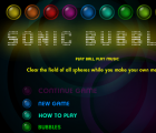 Sonic Bubbles Game